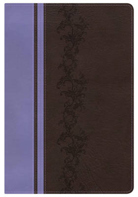 KJV Rainbow Study Bible, Brown/Lavender LeatherTouch, Indexed (Leather / fine binding)