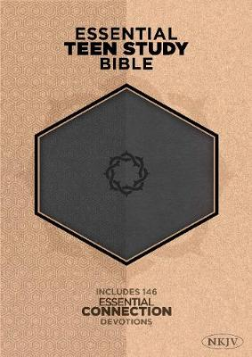 NKJV Essential Teen Study Bible: Charcoal LeatherTouch (Leather / fine binding)