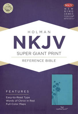 NKJV Super Giant Print Reference Bible, Black LeatherTouch (Leather / fine binding)