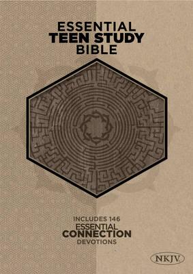 Essential Teen Study Bible-NKJV-Cork (Leather / fine binding)
