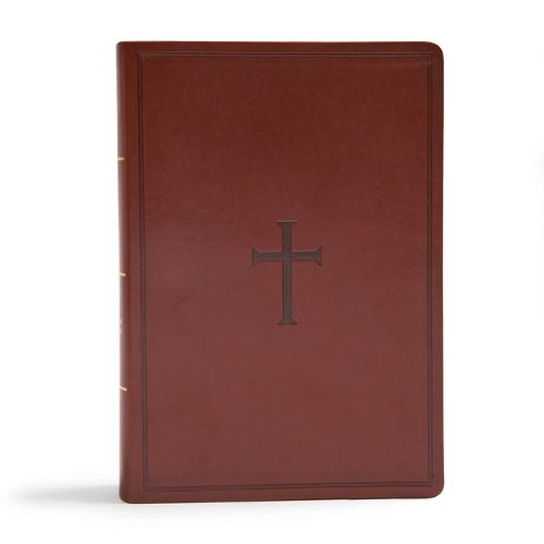 CSB Super Giant Print Reference Bible, Brown LeatherTouch, Indexed (Leather / fine binding)