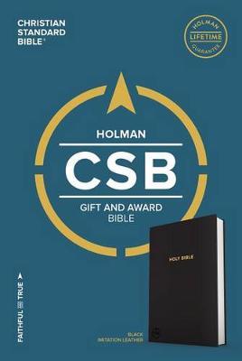 CSB Gift & Award Bible, Black (Leather / fine binding)