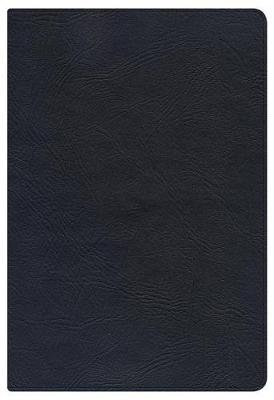 KJV Large Print Personal Size Reference Bible, Black Genuine Leather Indexed (Leather / fine binding)