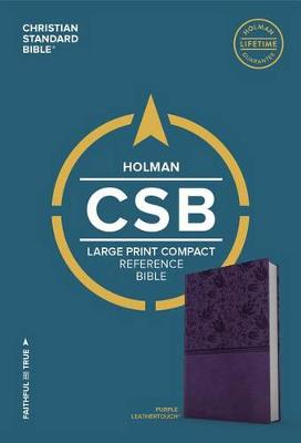 CSB Large Print Compact Reference Bible, Purple LeatherTouch (Leather / fine binding)