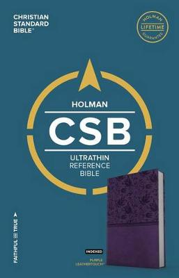 CSB Ultrathin Reference Bible, Purple LeatherTouch, Indexed (Leather / fine binding)