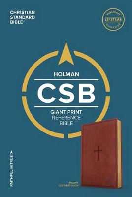 CSB Giant Print Reference Bible, Brown LeatherTouch (Leather / fine binding)