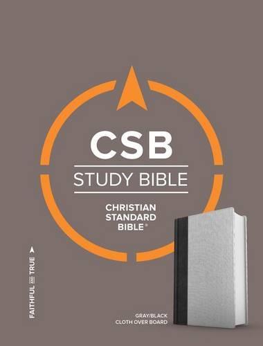 CSB Study Bible, Gray/Black Cloth Over Board (Hardback)