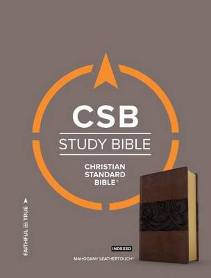 CSB Study Bible, Mahogany LeatherTouch, Indexed (Leather / fine binding)