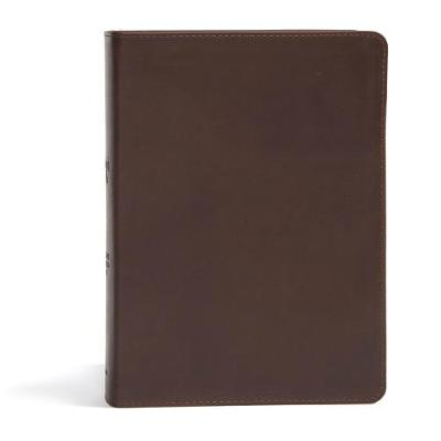 CSB She Reads Truth Bible, Brown Genuine Leather, Indexed (Leather / fine binding)