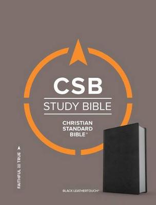 CSB Study Bible, Black Deluxe LeatherTouch (Leather / fine binding)