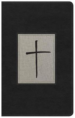 NKJV Ultrathin Reference Bible, Black/Gray Deluxe LeatherTouch (Leather / fine binding)