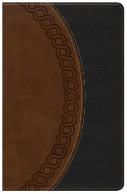 NKJV Large Print Personal Size Reference Bible, Black/Brown Deluxe LeatherTouch, Indexed (Leather / fine binding)