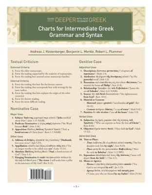 Charts for Intermediate Greek Grammar and Syntax (Sheet map, folded)