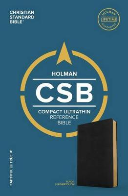 CSB Compact Ultrathin Bible, Black LeatherTouch (Leather / fine binding)