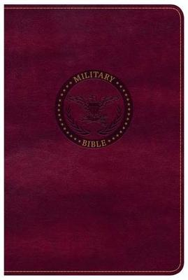 CSB Military Bible, Burgundy LeatherTouch (Leather / fine binding)