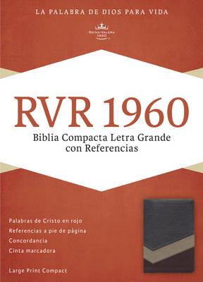 RVR 1960 Biblia Compacta Letra Grande con Referencias, marron/tostado/bronceado simil piel (Leather / fine binding)