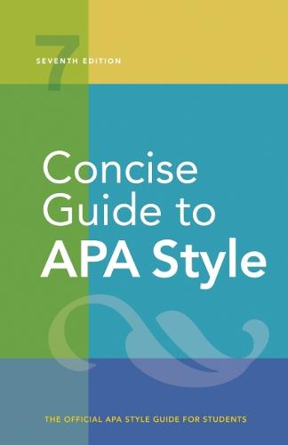 Concise Guide to APA Style (Spiral bound)