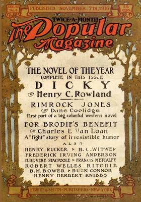 Pulp Classics: The Popular Magazine (November 7, 1916) (Paperback)