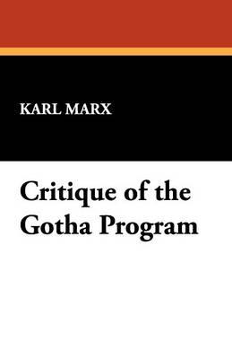 Critique of the Gotha Program (Paperback)