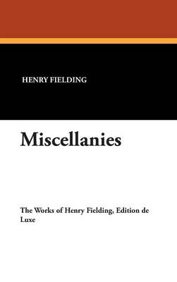 Miscellanies (Hardback)