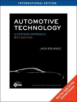 Automotive Technology: A Systems Approach, International Edition (Hardback)