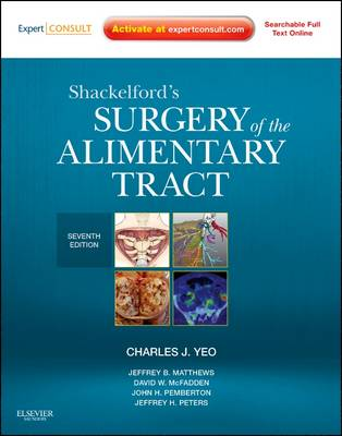 Shackelford's Surgery of the Alimentary Tract - 2 Volume Set: Expert Consult - Online and Print (Hardback)