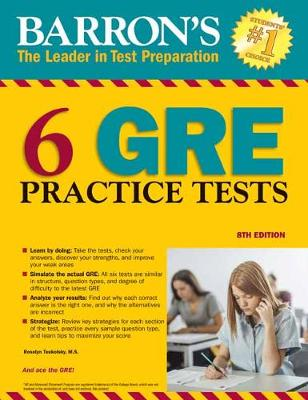6 GRE Practice Tests - Barron's Test Prep (Paperback)
