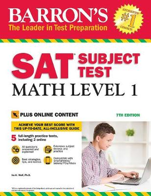 Barron's SAT Subject Test: Math Level 1 with Online Tests (Paperback)