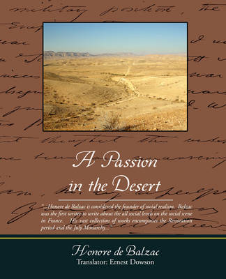 A Passion in the Desert (Paperback)