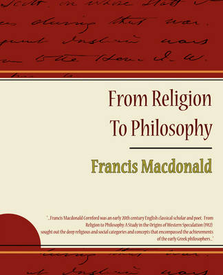 From Religion to Philosophy (Paperback)