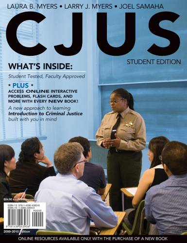 CJUS (with Review Card and Criminal Justice CourseMate with eBook Printed Access Card)