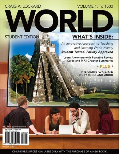 WORLD, Volume 1 (with Review Cards and History CourseMate with eBook, Wadsworth World History Resource Center 2-Semester Printed Access Card)