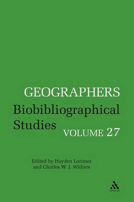Biobibliographical Studies - Geographers No. 27 (Paperback)