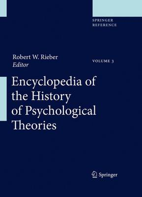 Encyclopedia of the History of Psychological Theories - Encyclopedia of the History of Psychological Theories