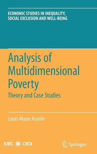 Analysis of Multidimensional Poverty: Theory and Case Studies - Economic Studies in Inequality, Social Exclusion and Well-Being 7 (Hardback)