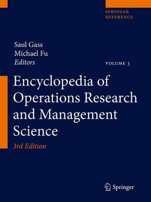 Encyclopedia of Operations Research and Management Science - Encyclopedia of Operations Research and Management Science