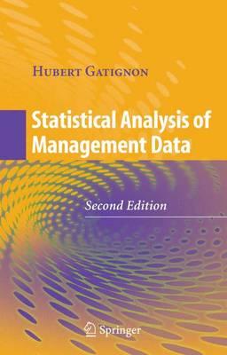 Statistical Analysis of Management Data (Hardback)