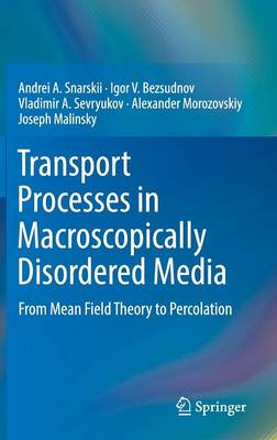 Transport Processes in Macroscopically Disordered Media: From Mean Field Theory to Percolation (Hardback)