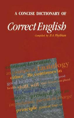 A Concise Dictionary of Correct English (Paperback)