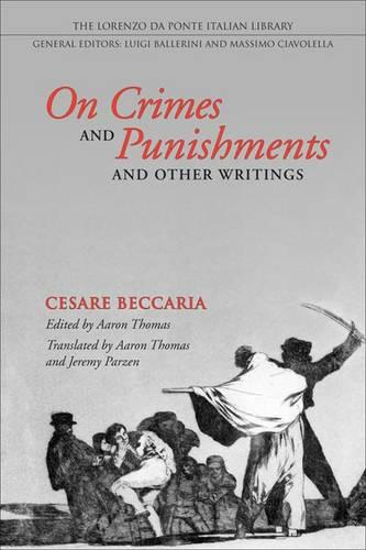 On Crimes and Punishments and Other Writings - Lorenzo Da Ponte Italian Library (Paperback)
