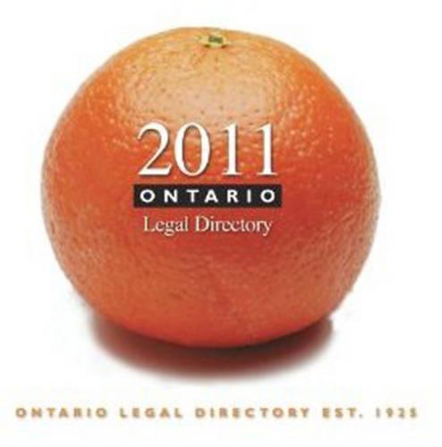 Ontario Legal Directory 2011 - Ontario Legal Directory (Paperback)