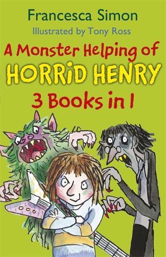 A Monster Helping of Horrid Henry 3-in-1: Horrid Henry Rocks/Zombie Vampire/Monster Movie - Horrid Henry (Paperback)