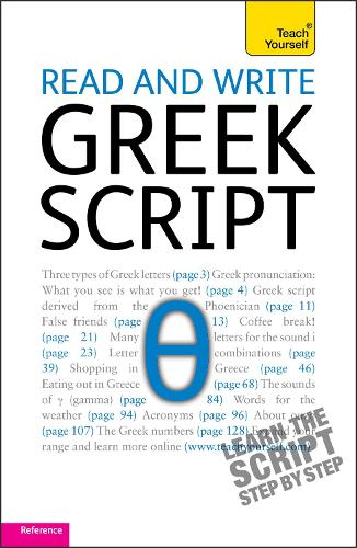 Read and write Greek script: Teach yourself (Paperback)