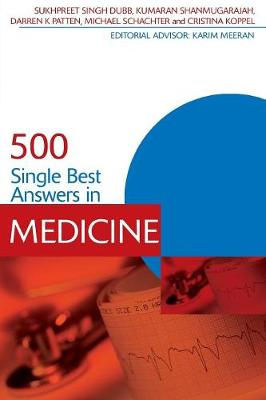 500 Single Best Answers in Medicine - Medical Finals Revision Series (Paperback)
