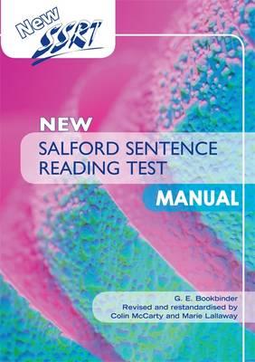 New Salford Sentence Reading Test: Manual - Salford Sentence Reading Test (Paperback)