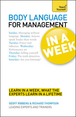 Body Language for Management in a Week: Teach Yourself (Paperback)