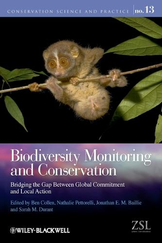 Biodiversity Monitoring and Conservation: Bridging the Gap Between Global Commitment and Local Action - Conservation Science and Practice (Paperback)