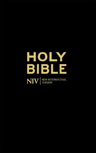 NIV Thinline Black Hardback Bible - Black (Hardback)