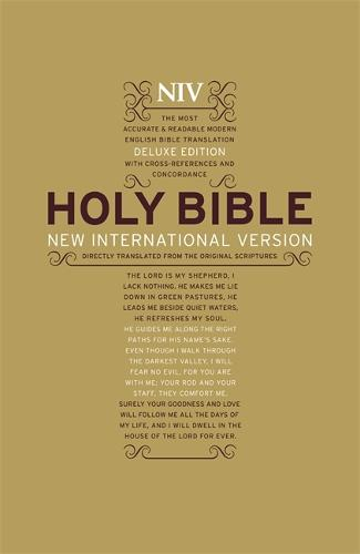 NIV Deluxe Hardback Bible - New International Version (Hardback)