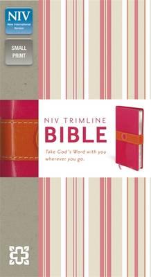 NIV Trimline Bright Pink/Orange Duo-Tone Bible: New International Version (Paperback)